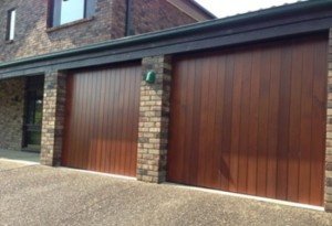 Stained Timber Garage Doors